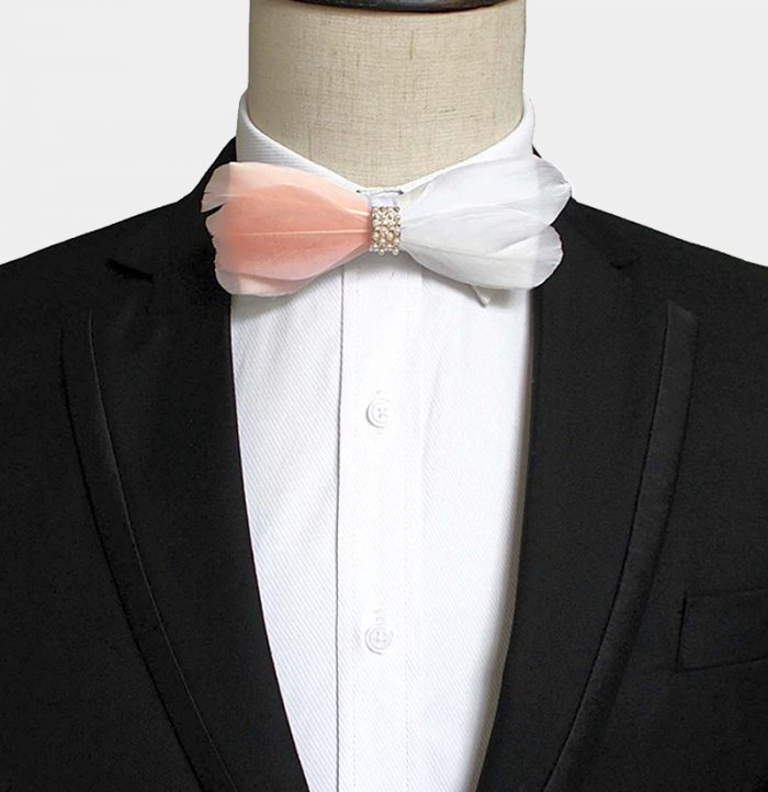 pearl and feather bow tie from Gentlemansguru.com