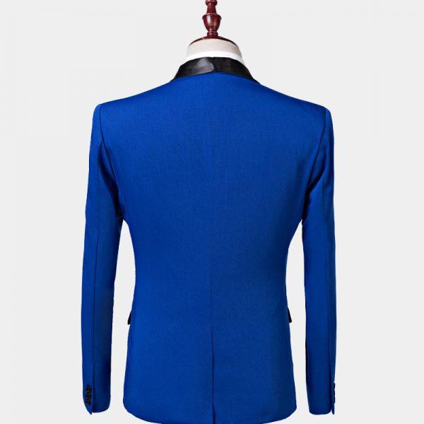 Mens Blue Shawl Collar Tuxedo Jacket Wedding-Prom from Gentlemansguru.com