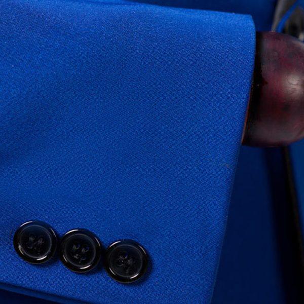 Mens Blue Shawl Collar Tuxedo Jacket from Gentlemansguru.com