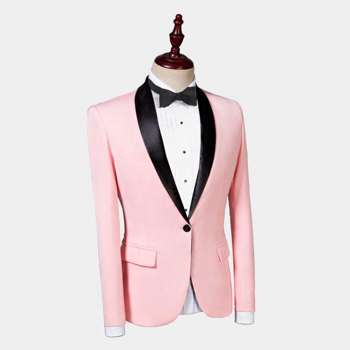 Men's Light Pink Tuxedo Blazer