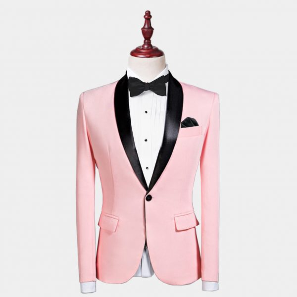 Mens Light Pink Tuxedo Jacket