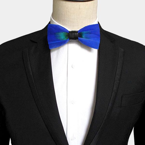 Mens Peacock Feather bow Tie from Gentlemansguru.com