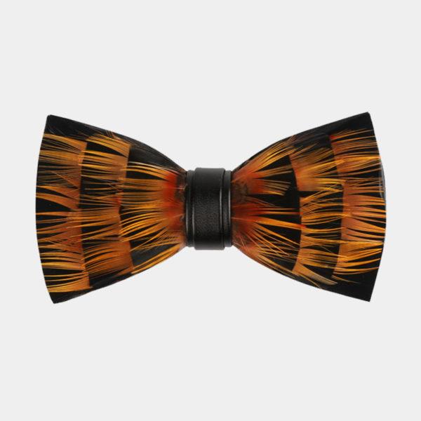 Orange Feather Bow Tie brackish bow tie from Gentlemansguru.com