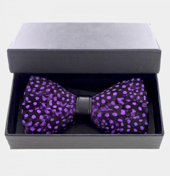 Purple Feather Bow Tie from Gentlemansguru.com