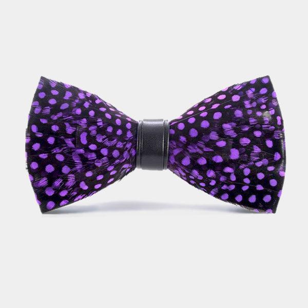 Purple Quail Feather Bow Tie from Gentlemansguru.com