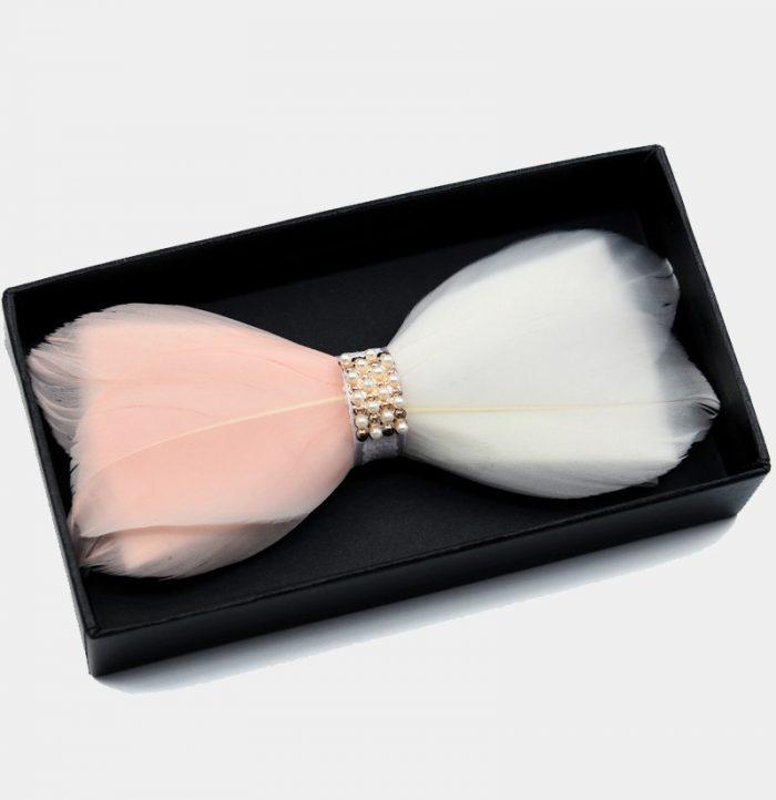 deluxe pearl feather bow tie from Gentlemansguru.com