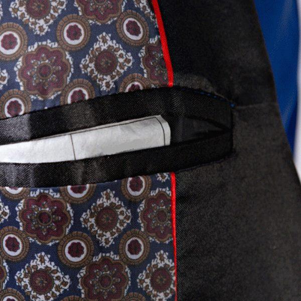 Mens Blue Tuxedo JAcket With Black Shawl Collar Formal Jacket from Gentlemansguru.com