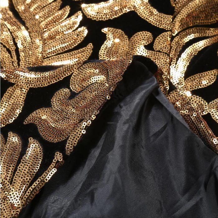 Black and Gold Prom Tuxedo for Men