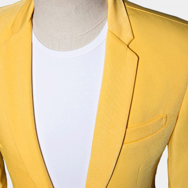 Bright Yellow Suit Jacket