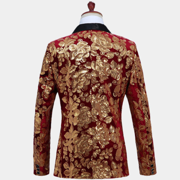 Burgundy-And-Gold-Prom--Tuxe-Suit-Jacket-Blazer-from-Gentlemansguru.com
