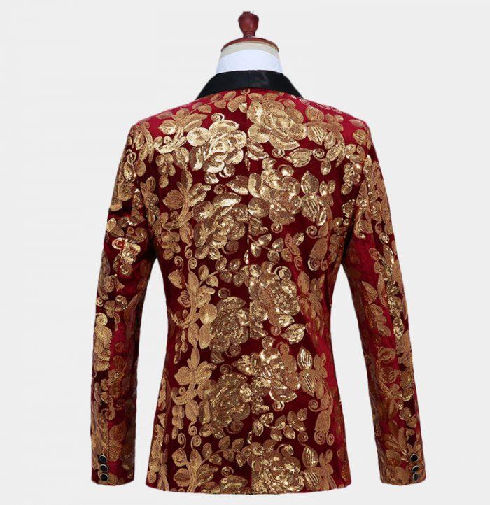 Burgundy-And-Gold-Prom--Tuxe-Suit-Jacket-Blazer-from-Gentlemansguru.com