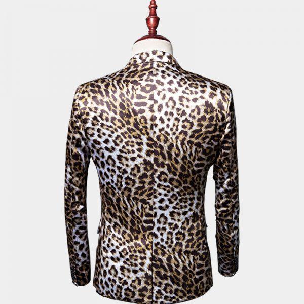 Cheetah Print Blazer Man