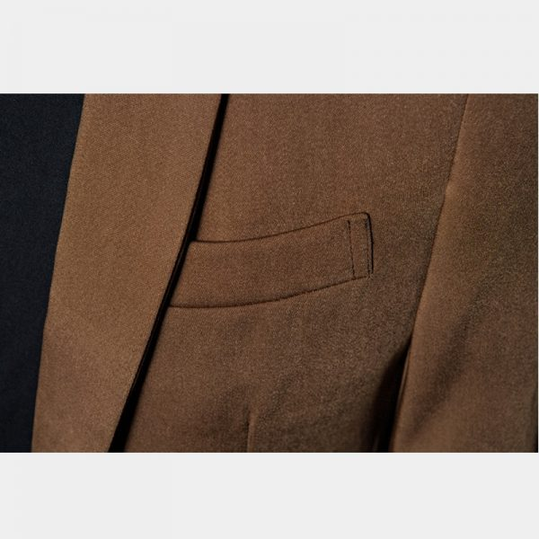 Classic Light Brown Suit Jacket For Men