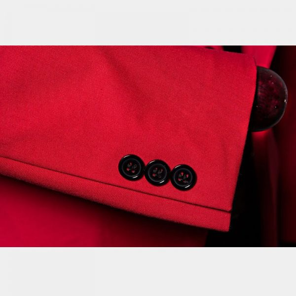 Classic Red Suit Jacket Mens