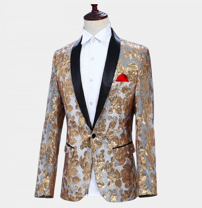 Gold-And-Silver-Jacket-Prom-Wedding-Tuxedo-from-Gentlemansguru.com