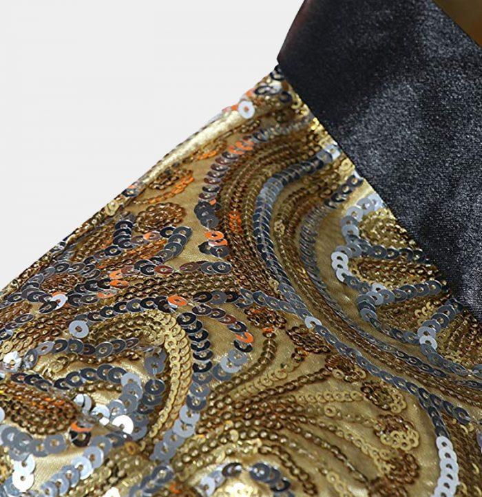 Gold Sequins Mens Formal Jacket Blazer from Gentlemansguru.com