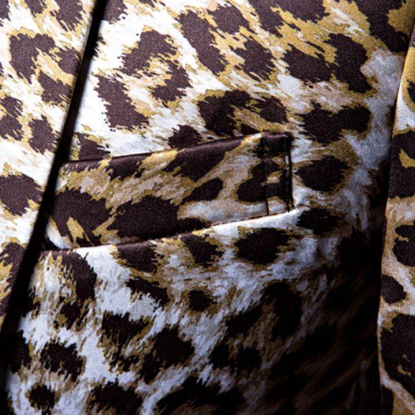Leopard Print Blazer Jacket Mens