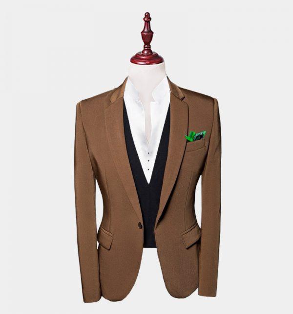 Mens Brown Suit Jacket