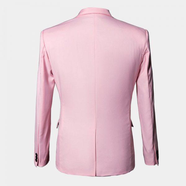 Mens Light Pink Blazer Coat