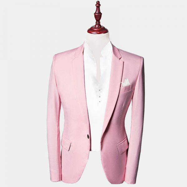 Mens Light Pink Suit Jacket