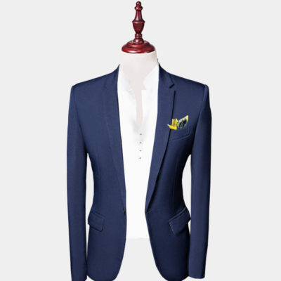 Mens Navy Blue Suit Jacket