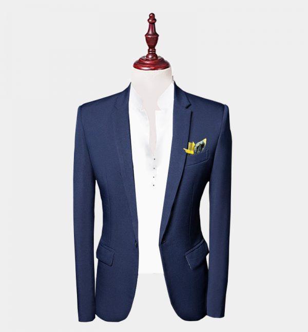 Mens Navy Blue Suit Jacket