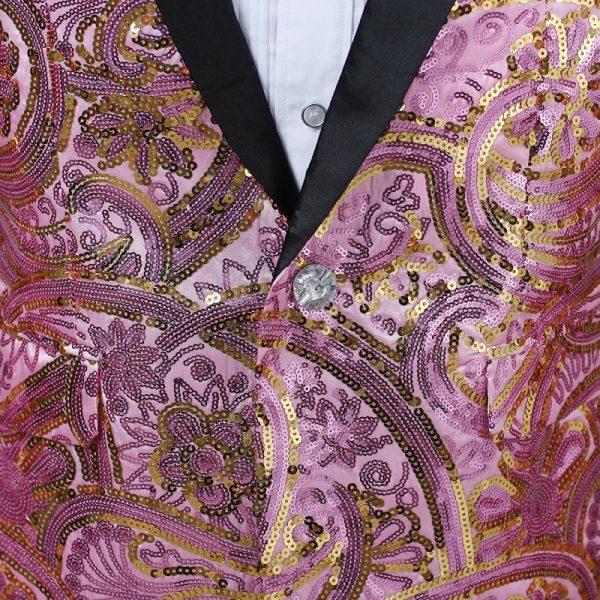 Mens Pink Sequin Blazer