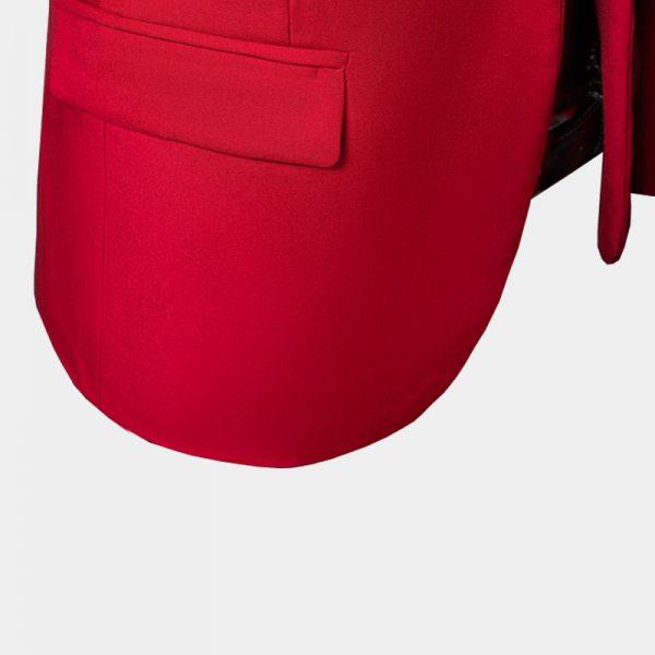 Mens Red Suit Jacket Blazer