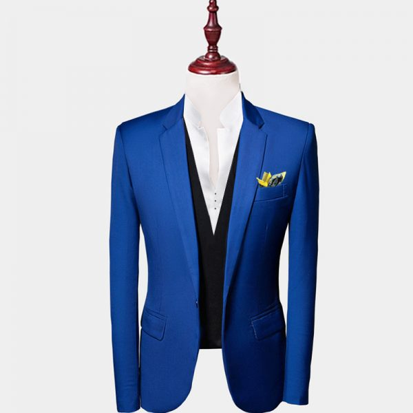 Mens Royal Blue Suit Jacket