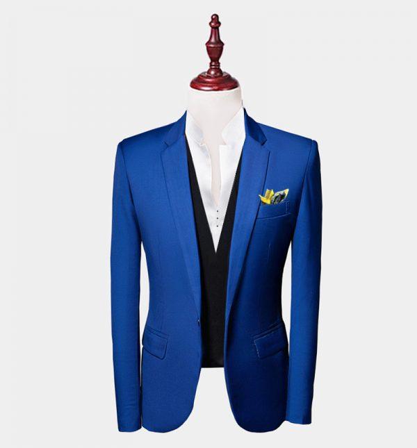 Mens Royal Blue Suit Jacket