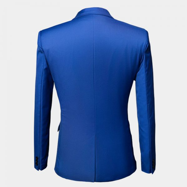 Mens Ryal Blue Slim Fit Suit Jacket Blazer
