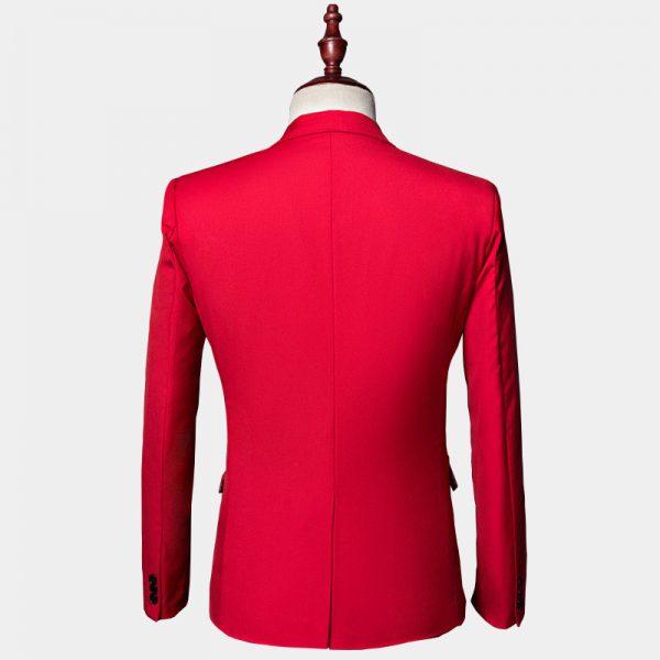 Mens Slim Fit Red Suit Jacket