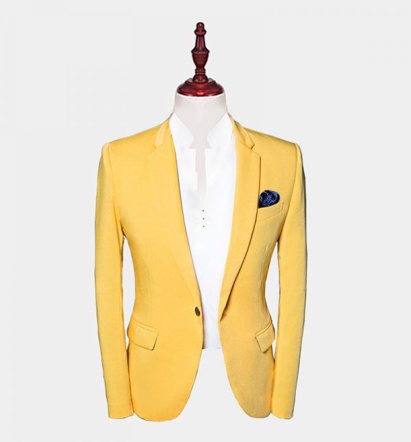Mens Yellow Suit Jacket