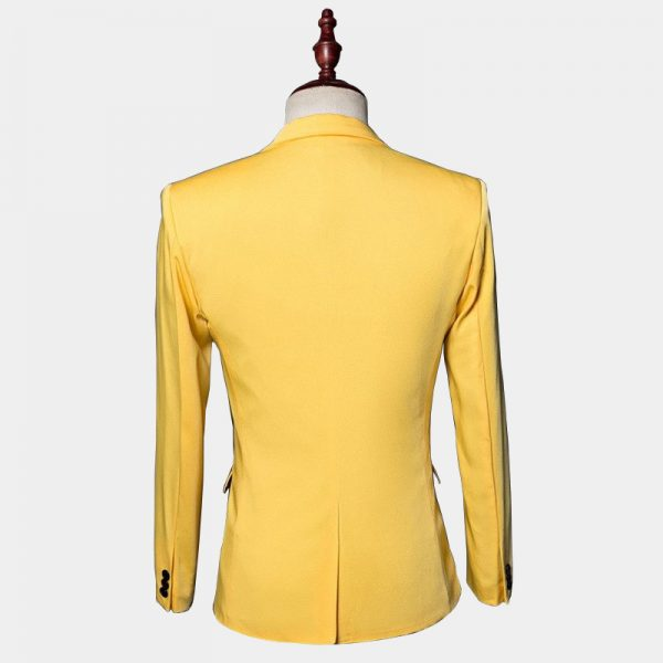 a50f31103262a0 Yellow Tuxedo Jacket With Black Lapel - Gentleman's Guru™
