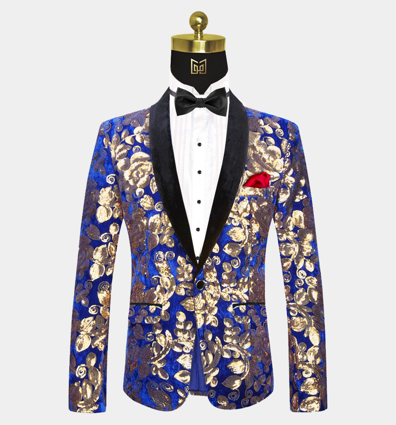 Royal-Blue-and-Gold-Velvet-Tuxedo-Jacket-Prom-Wedding-Blazer-from-Gentlemansguru.com