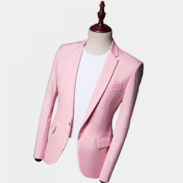 Suit Jacket Blazer In Light Pink For Men