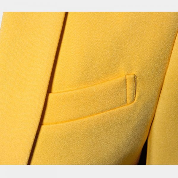 Yellow Suit Jacket Mens