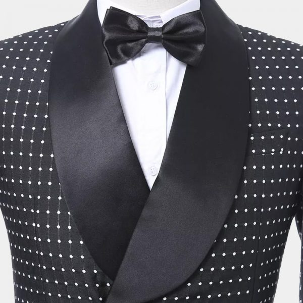 Black Polka Dot Tuxedo Jacket from Gentlemansguru.com
