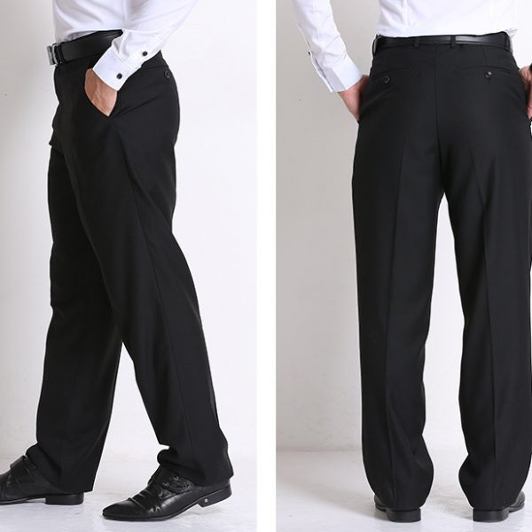 Formal Black Dress Pants for Men