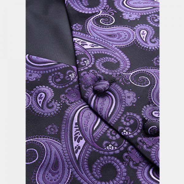 Mens Purple Paisley Vest