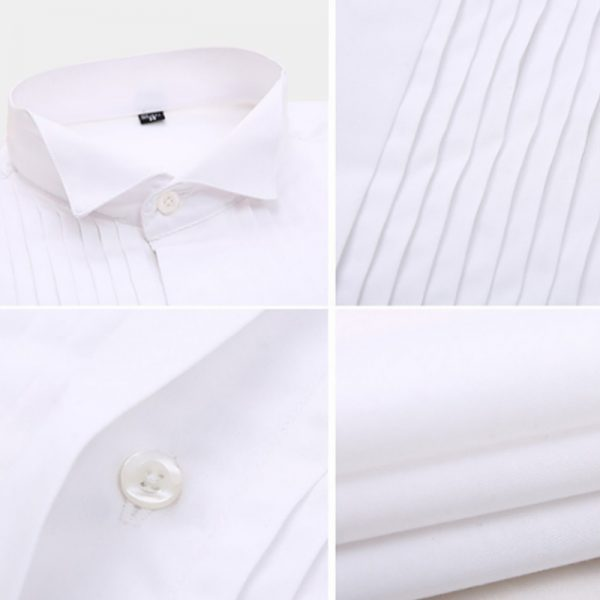 Men's Wedding White French Cuff Tuxedo Shirt from Gentlemansguru.com