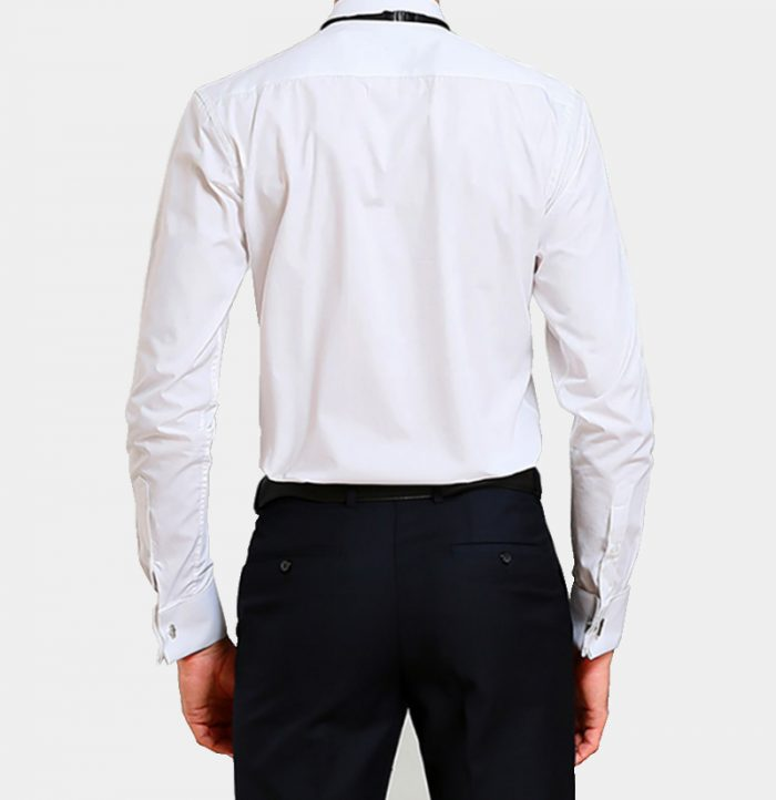 White Tuxedo Shirt from Gentlemansguru.com