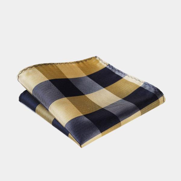 Black And Gold Plaid Pocket-Square-Handkerchief from Gentlemansguru.com