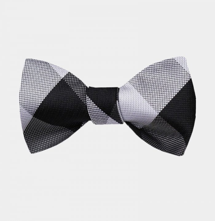 Black And White Plaid Bow Tie For Sale from Gentlemansguru.com