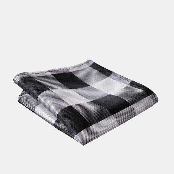 Black And White Plaid Pocket-Square-Handkerchief from Gentlemansguru.com