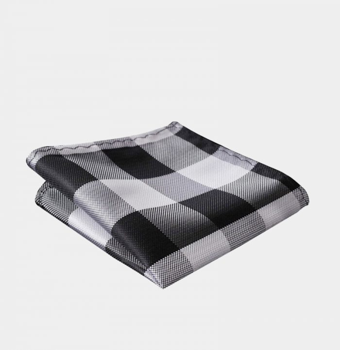Black And White Plaid Pocket-Square-Handkerchief from Gentlemansguru.com