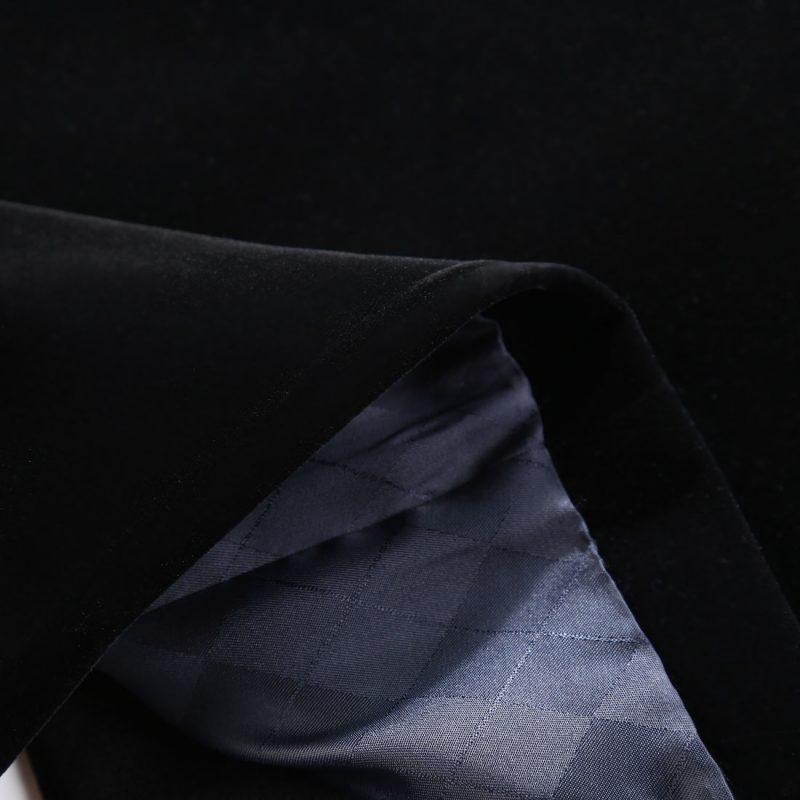Black Velour Tuxedo Jacket