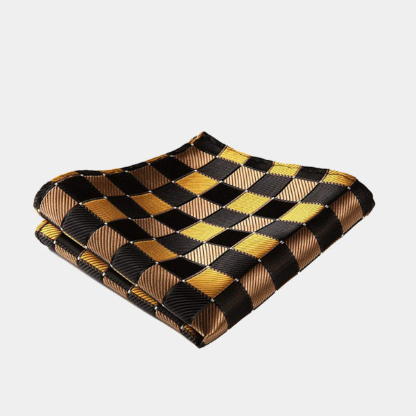 Blue And Gold Plaid Pocket-Square-Handkerchief from Gentlemansguru.com
