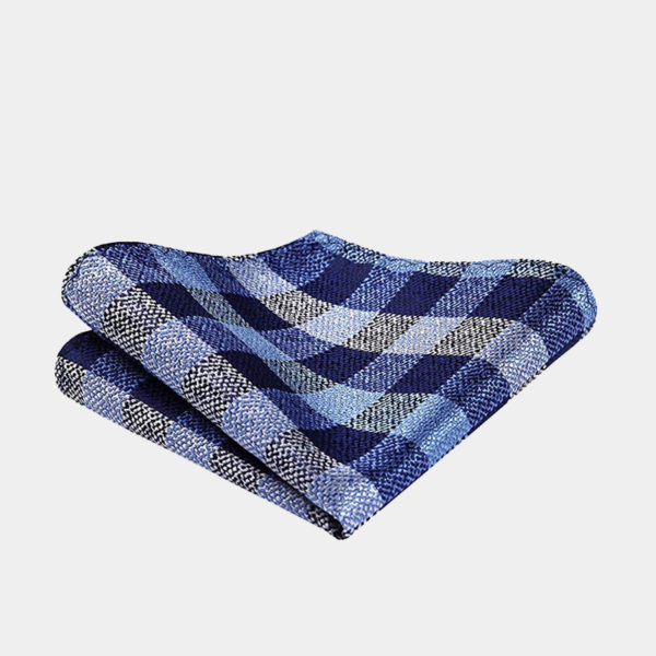 Blue And Gray Plaid Pocket-Square-Handkerchief from Gentlemansguru.com