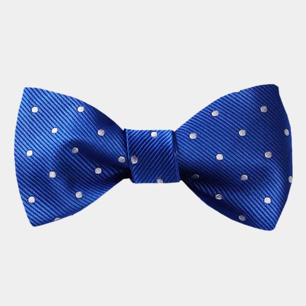 Blue Polka Dot Bow-Tie from Gentlemansguru.com